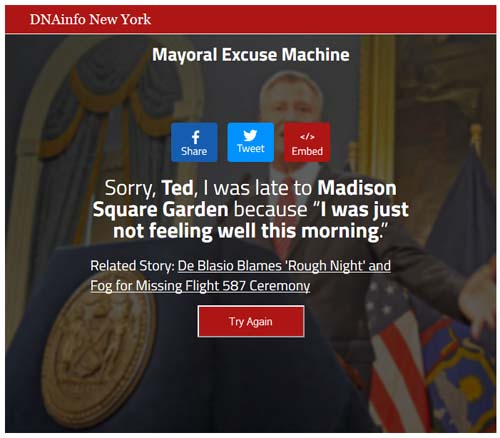 Mayoral Excuse Machine